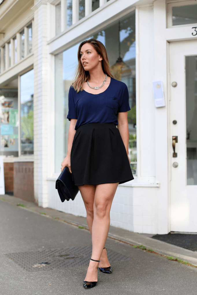 Navy And Black To Vogue Or Bust