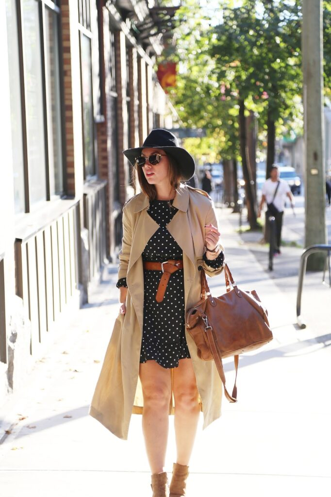 to vogue or bust, vancouver style blog, vancouver fashion blog, vancouver lifestyle blog, vancouver travel blog, vancouver fitness blog, vancouver health blog, canadian fashion blog, canadian style blog, canadian lifestyle blog, canadian travel blog, canadian fitness blog, canadian health blog, alexandra grant, how to wear polka dots, how to wear ankle boots, how to wear a trench coat, how to wear a floppy hat, aritzia floppy hat, joe fresh polka dot dress, browns shoes wishbone collection, roots grace bag, aritzia trench coat, fall 2015 trend report, polka dot styling tips, best fashion blogs, best style blogs, best lifestyle blogs, best travel blogs, best fitness blogs, best health blogs, top fashion blogs, top style blogs, top lifestyle blogs, top travel blogs, top fitness blogs, top health blogs