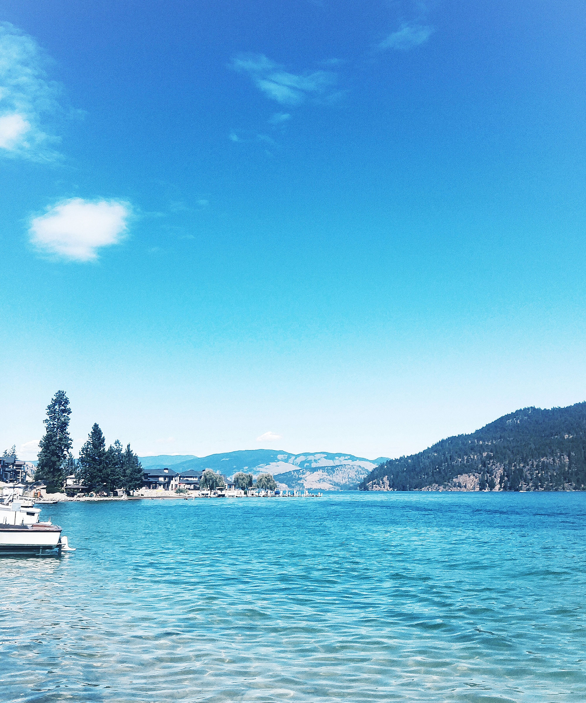 Most beautiful lakes in the Okanagan, Canada