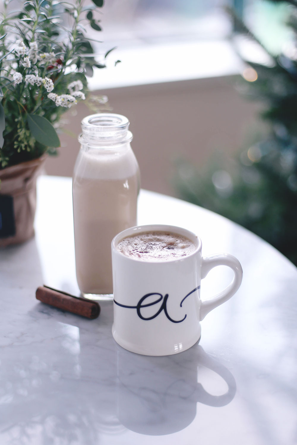 How to make vegan eggnog recipe by To Vogue or Bust