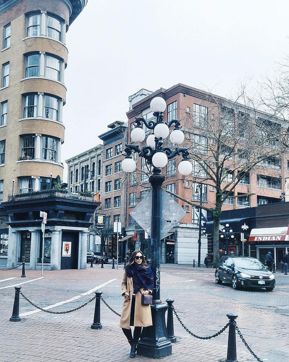 Best Instagram locations in Vancouver - Stanley Park, Gastown steam clock, Granville Island, Lynn Canyon Park, Lynn Canyon Suspension Bridge, Quarry Rock view, Fairview Sea Wall, Third Beach