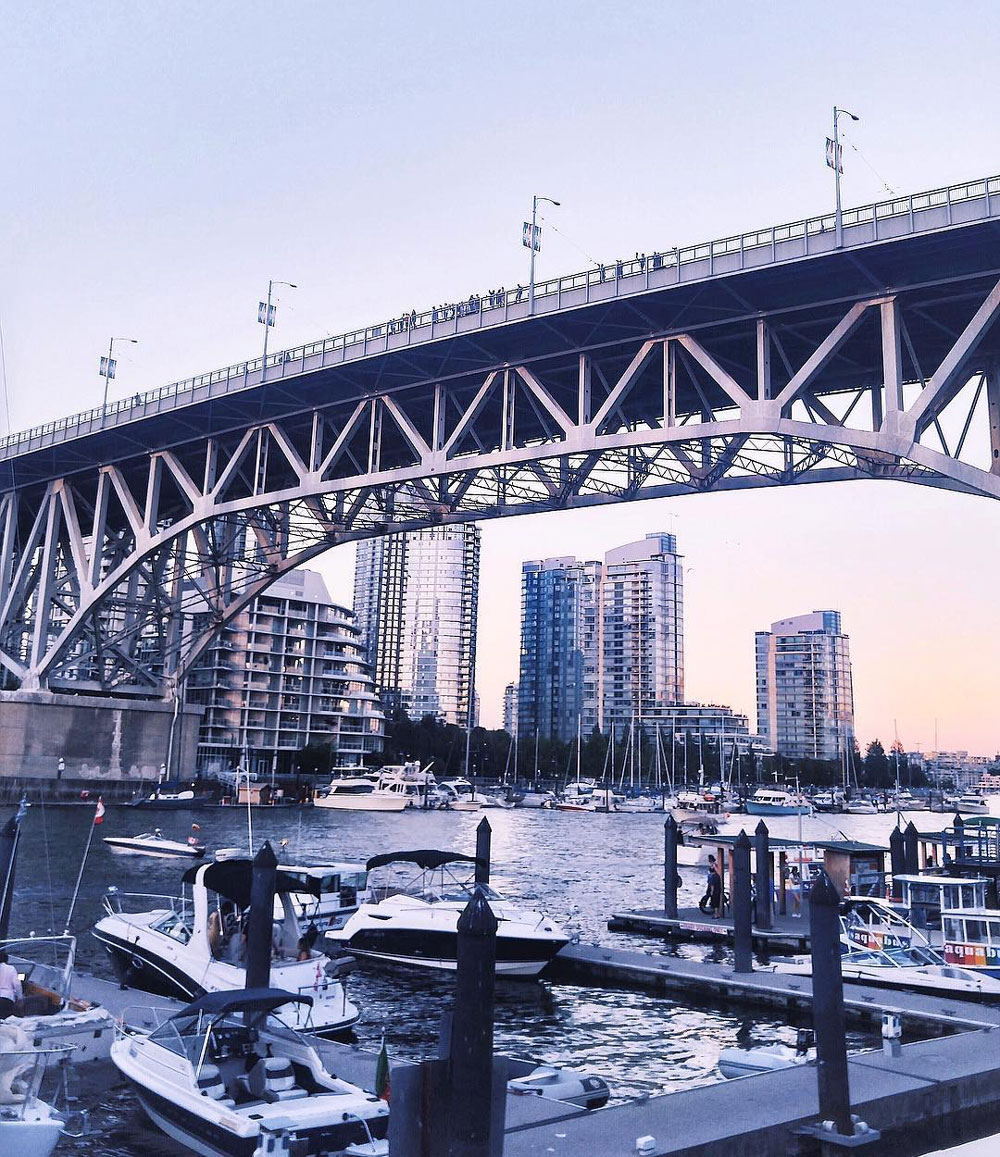 Best Instagram locations in Vancouver - Stanley Park, Gastown steam clock, Granville Island, Lynn Canyon Park, Lynn Canyon Suspension Bridge, Quarry Rock view, Fairview Sea Wall, Third Beach