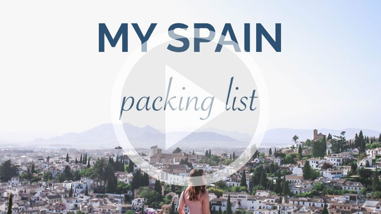My Spain Packing List