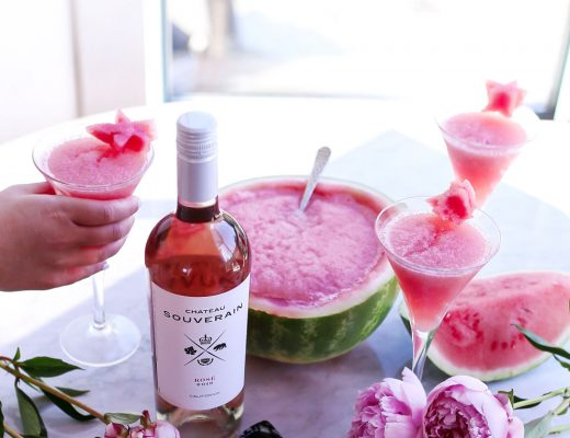 How to make watermelon frose recipe for summer by To Vogue or Bust