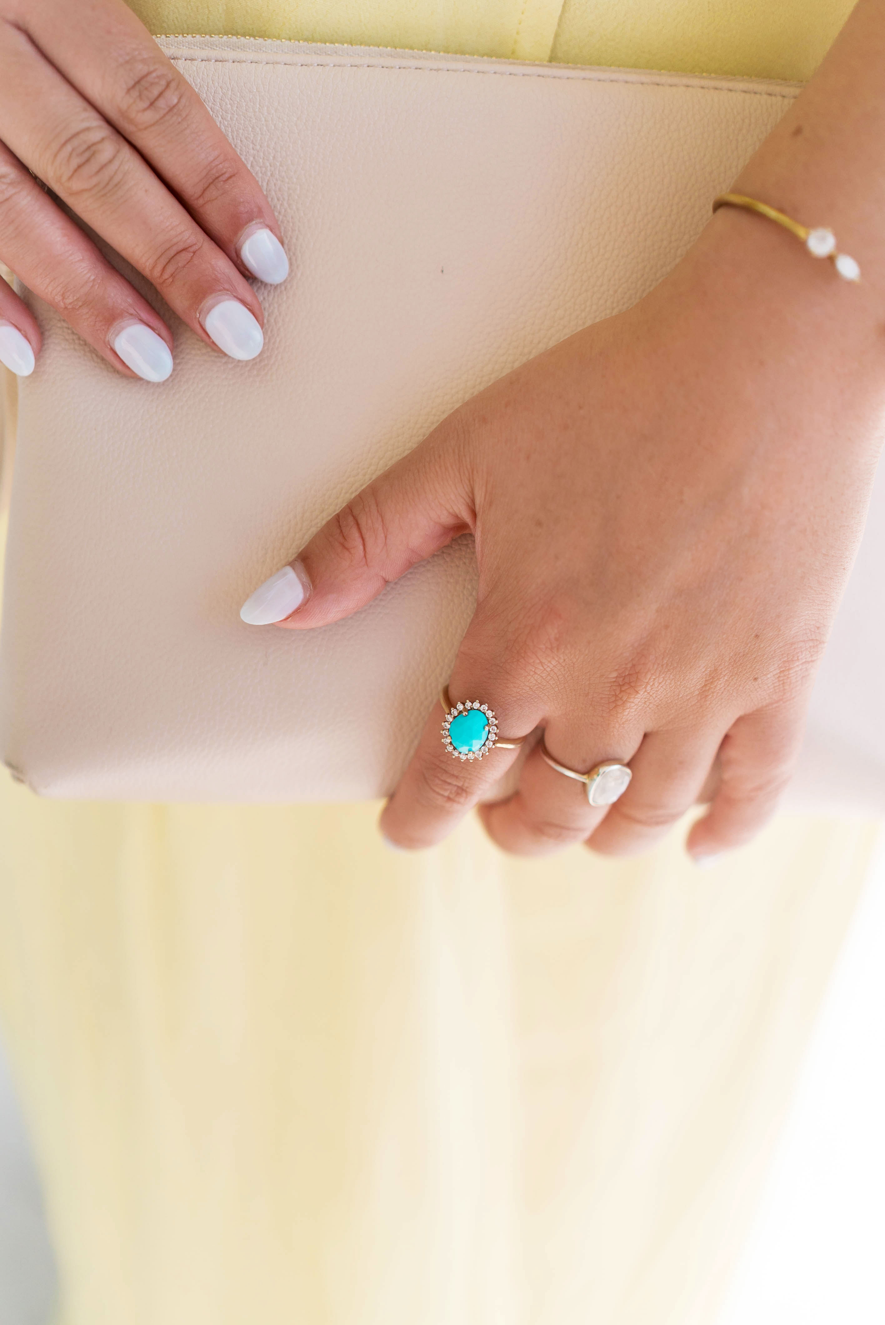 Best wedding guest outfit ideas by To Vogue or Bust in Leah Alexandra jewelry
