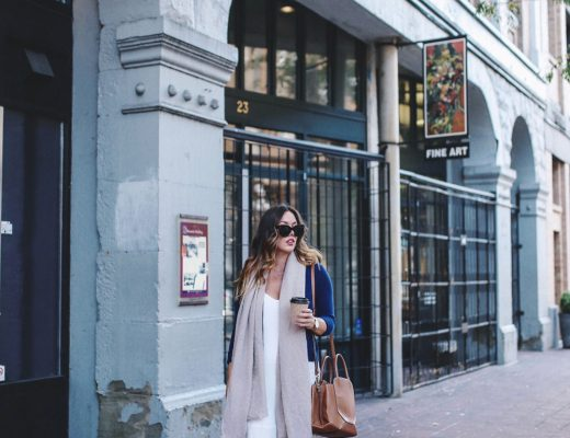 Fall transition style slip dress with aritzia bega bag by To Vogue or Bust