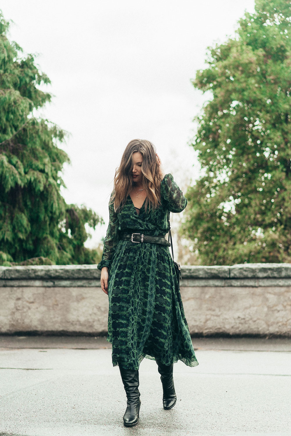 How to wear a maxi dress in fall by To Vogue or Bust