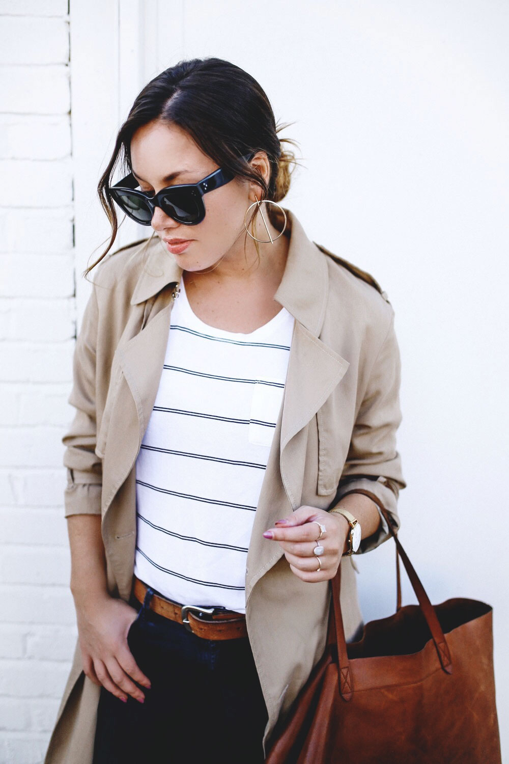 Trench coat styling ideas by To Vogue or Bust