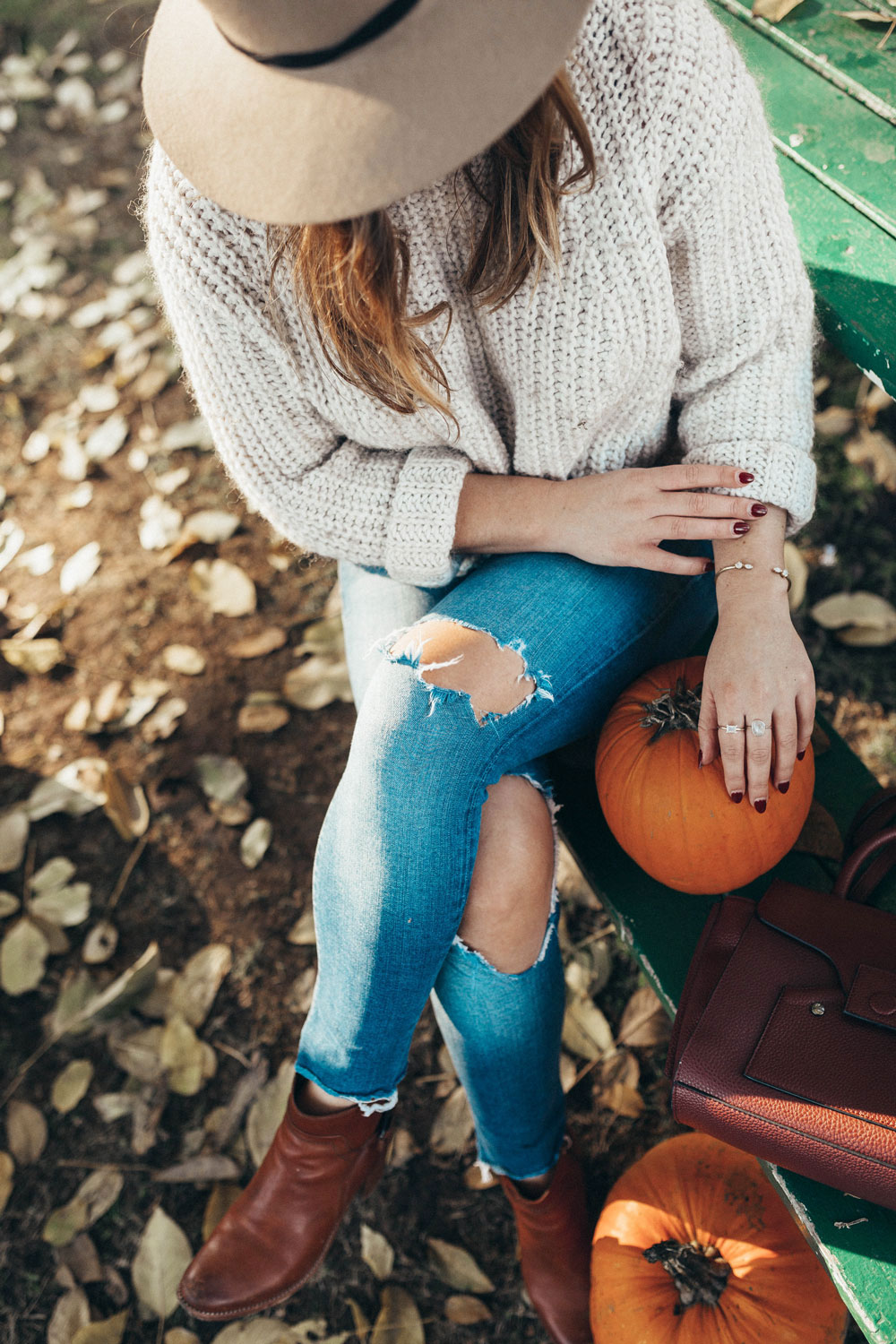 How to style skinny jeans for fall by To Vogue or Bust