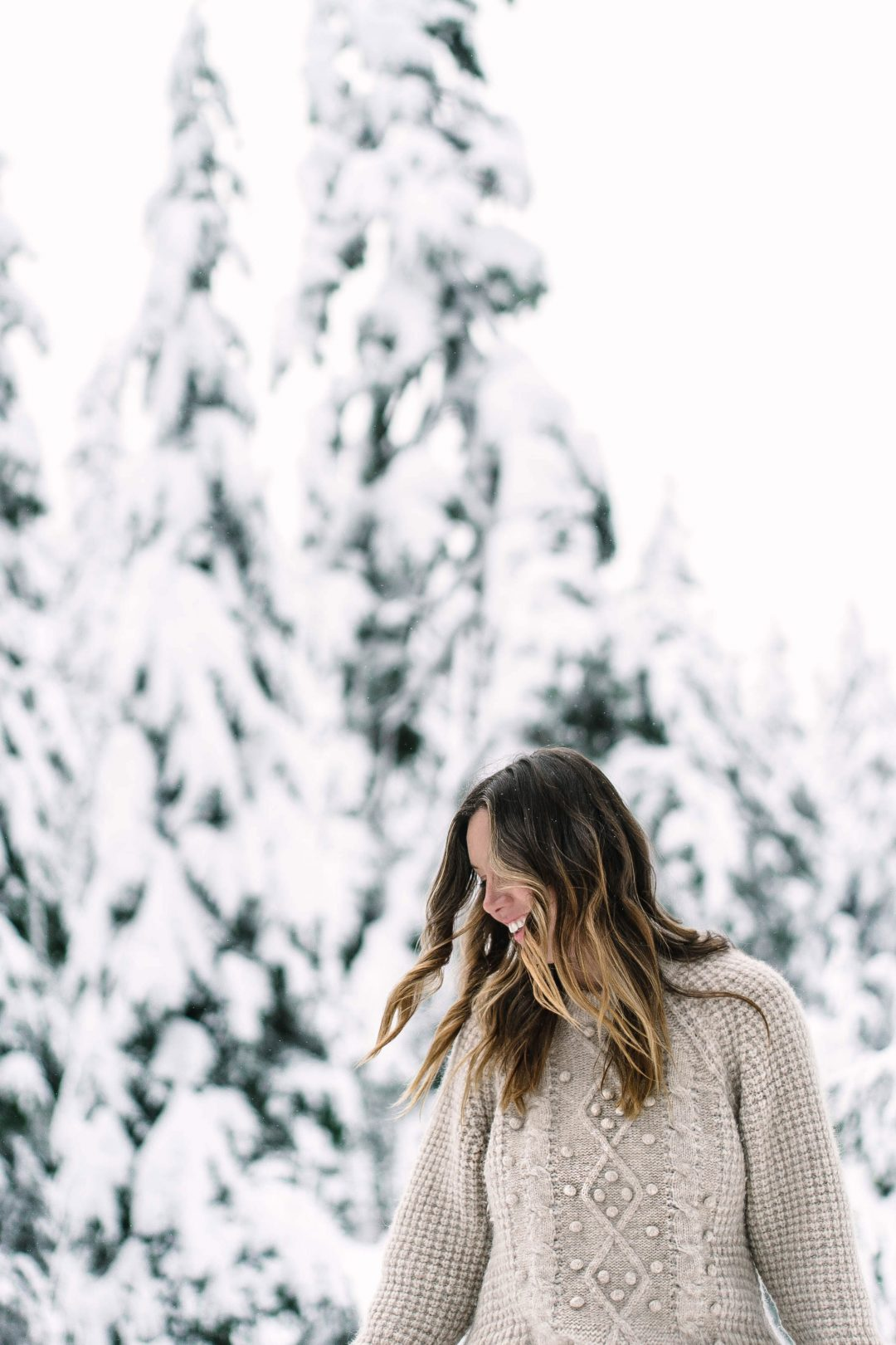 Winter outfit inspiration in aritzia sweater by To Vogue or Bust