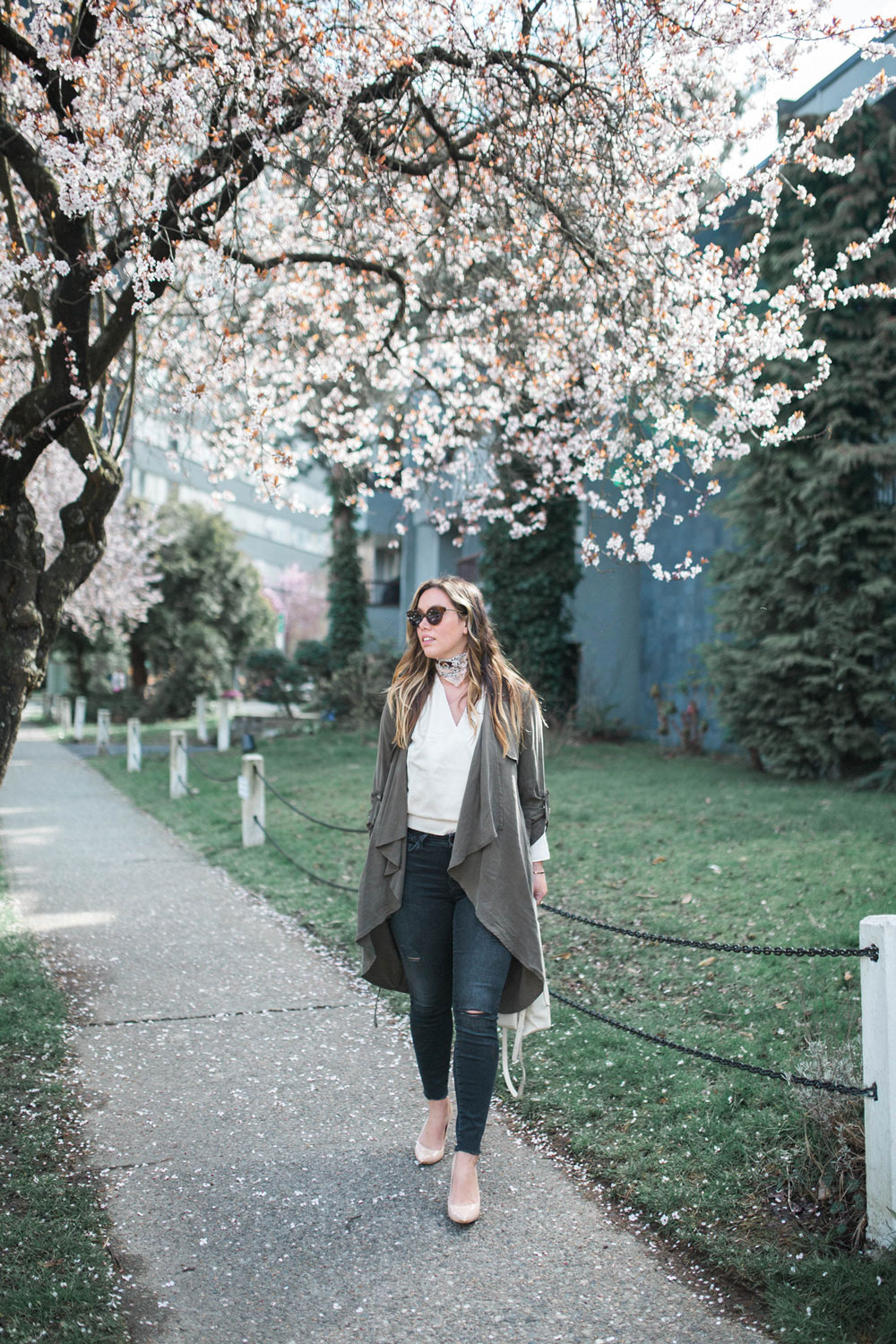 how to style a trench coat spring by To Vogue or Bust