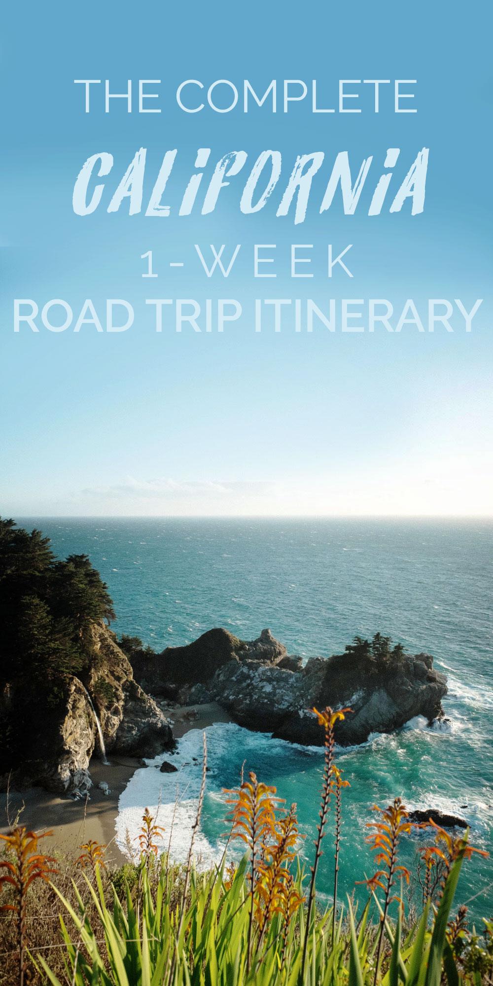 1 Week California Coast Road Trip