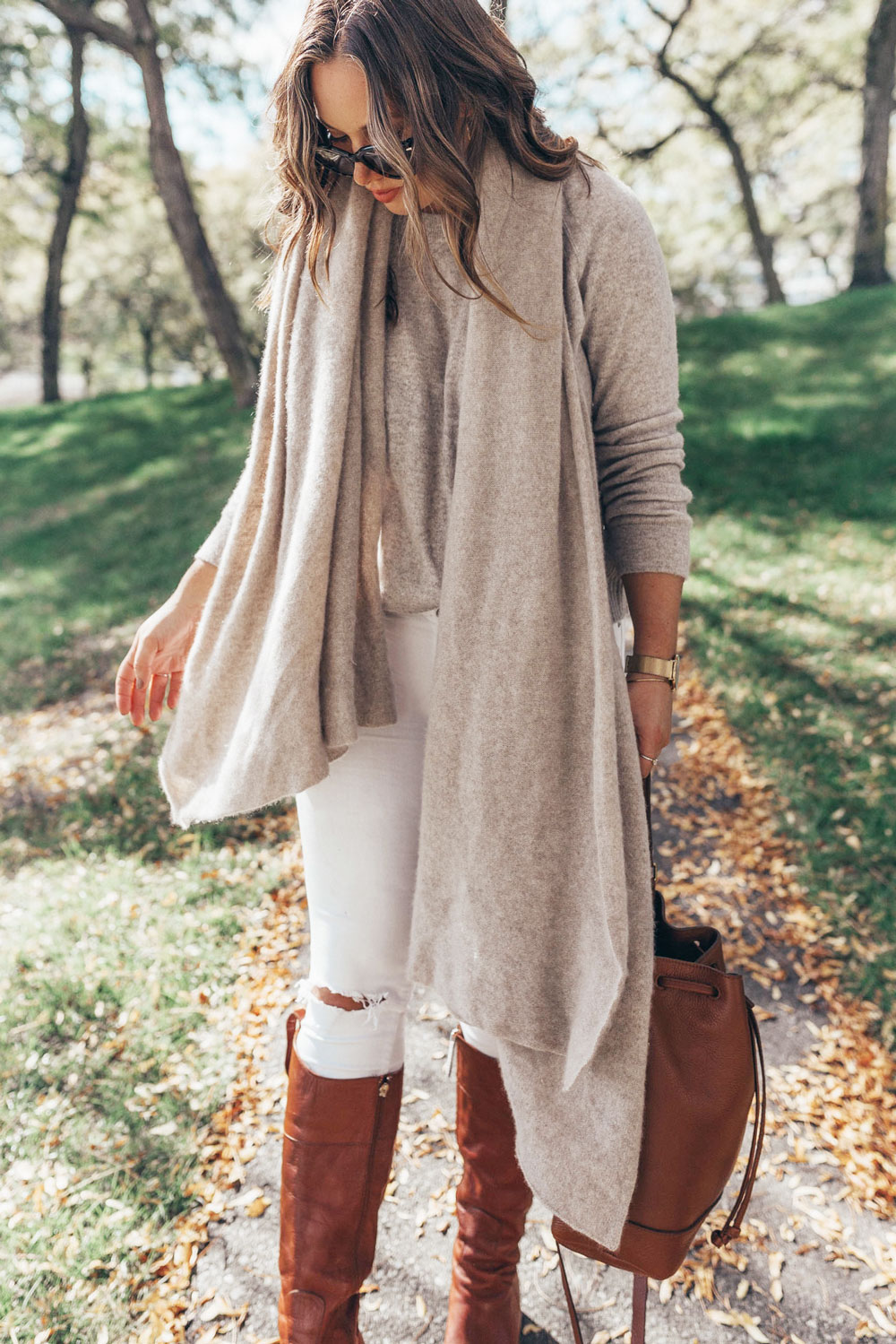 Cashmere sweater outfit ideas