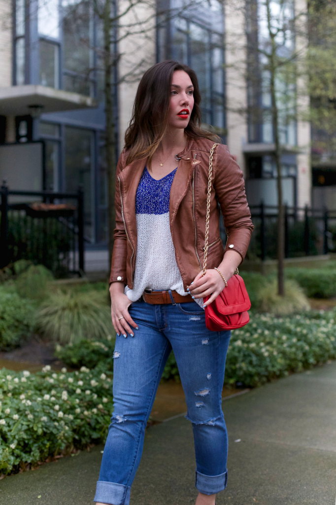 to vogue or bust, vancouver style blog, vancouver fashion blog, vancouver style, vancouver fashion, canadian fashion blog, left on houston sweater, forever 21 leather jacket, abercrombie and fitch boyfriend jeans, sole society france pumps, mary nichols bag