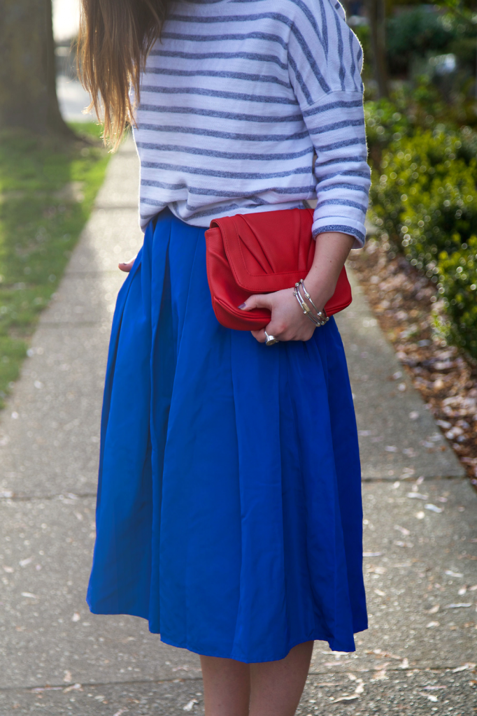 to vogue or bust, vancouver style blog, vancouver fashion blog, vancouver fashion, canadian fashion blog, alexandra grant, 424 fifth skirt, 424 fifth sweater, h&m heels, mary nichols bag, forever 21 bangles, kv bijou ring, brooklyn designs ring, spring style