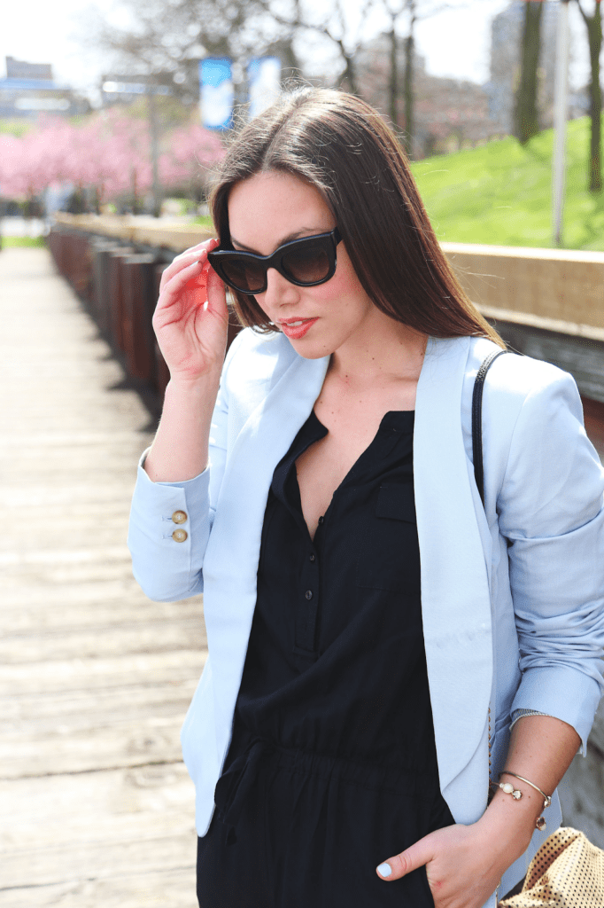 to vogue or bust, vancouver style blog, vancouver fashion blog, vancouver fashion, canadian fashion blog, alexandra grant, loft spring, her waise choice, alicia fashionista, powder blue style, spring style, styling a jumpsuit