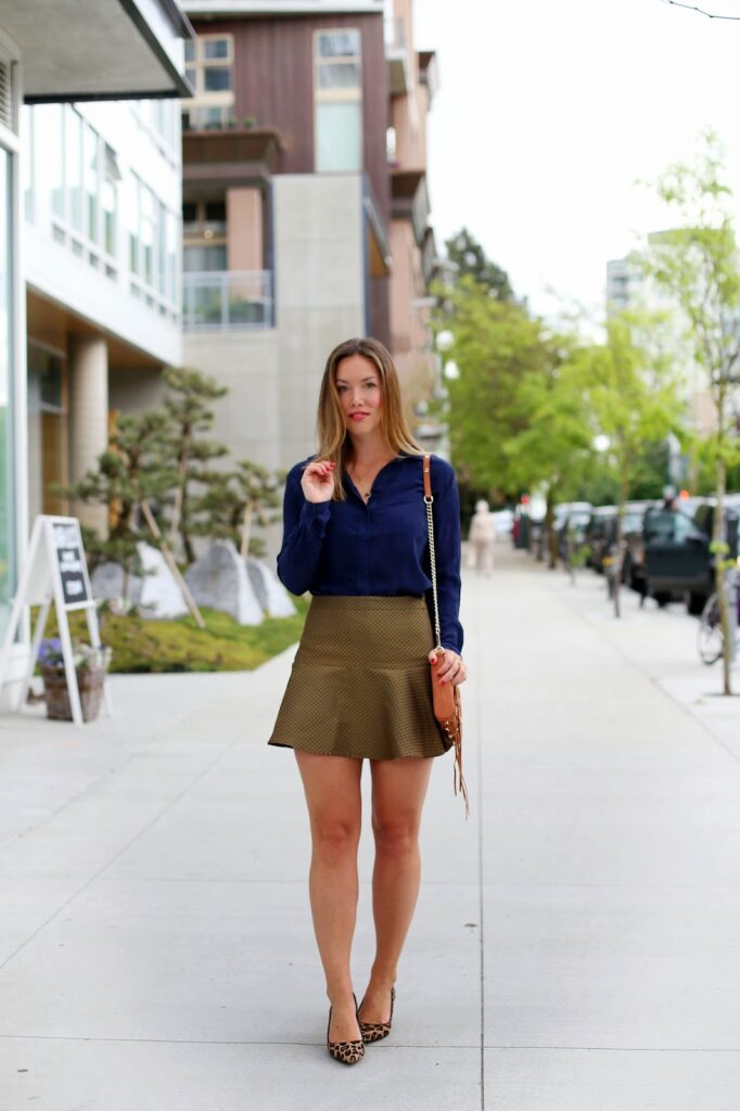 to vogue or bust, vancouver style blog, vancouver fashion blog, vancouver fashion, canadian fashion blog, club monaco skirt, joe fresh silk blouse, sole society heels, rebecca minkoff bag, keltie leanne necklace, spring style