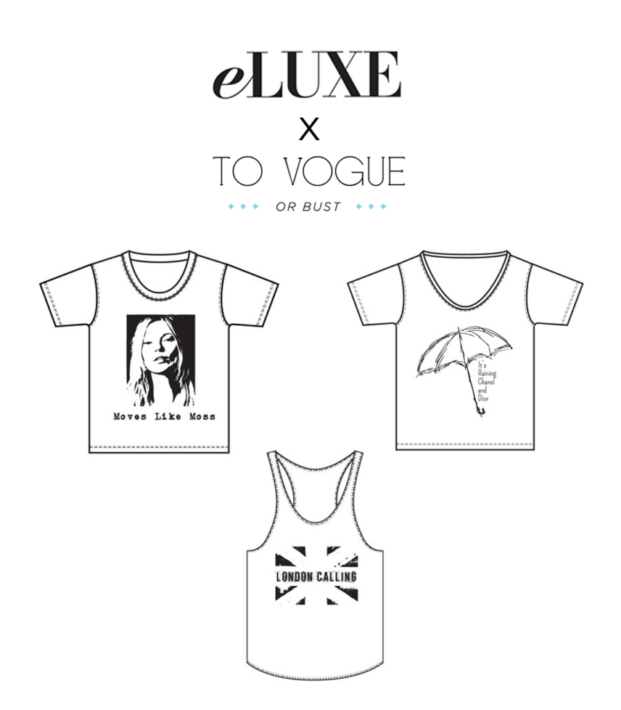 to vogue or bust, vancouver style blog, vancouver fashion blog, canadian style blog, canadian fashion blog, vancouver travel blog, eluxe connected collection, london calling tank top, london calling shirt, eluxe shopping, best fashion blog, best style blog, kate moss shirt, top fashion blog, top style blog
