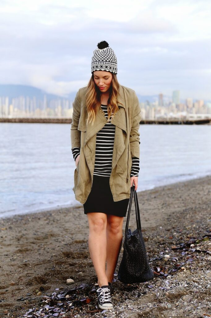 to vogue or bust, vancouver style blog, vancouver fashion blog, vancouver health blog, vancouver travel blog, canadian fashion blog, canadian style blog, canadian health blog, canadian travel blog, alexandra grant, how to wear converse, how to style converse, how to wear converse with a skirt, gentle fawn utility coat, joe fresh striped shirt, gentle fawn black pencil skirt, converse sneakers, converse sneakers style, one fated knight bag, joe fresh fair isle hat, brunch chic, what to wear to brunch, weekend style, what to wear on the weekend, cute weekend looks, cute brunch looks, how to wear different prints together, how to style prints together, parisian chic, best fashion blogs, best style blogs, best travel blogs, best health blogs, top travel blogs, top health blogs, top style blogs, top fashion blogs