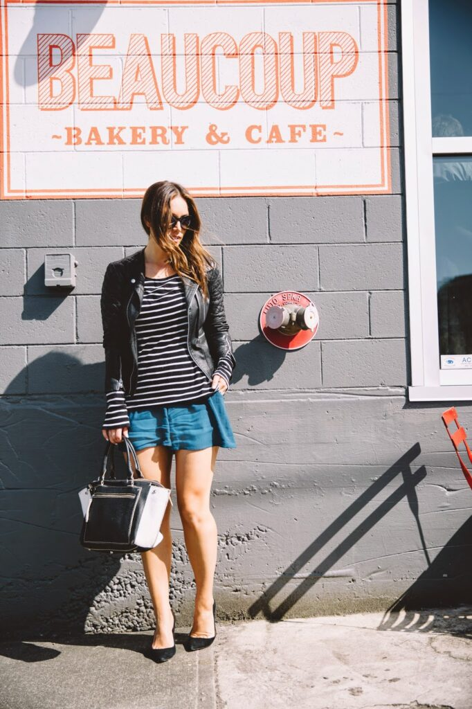 to vogue or bust, vancouver style blog, vancouver fashion blog, vancouver lifestyle blog, vancouver travel blog, vancouver fitness blog, vancouver health blog, canadian fashion blog, canadian style blog, canadian lifestyle blog, canadian travel blog, canadian fitness blog, canadian health blog, alexandra grant, beaucoup bakery, gentle fawn shorts, joe fresh striped shirt, walter baker leather jacket, vintage sunglasses, j.crew everly heels, roots bag, beaucoup bakery, vancouver travel tips, what to do in a weekend in vancouver, weekend in vancouver, best coffee in vancouver, beaucoup bakery reviews, top fashion blogs, top style blogs, top travel blogs, top lifestyle blogs, top health blogs, top fitness blogs, best fashion blogs, best style blogs, best lifestyle blogs, best travel blogs, best fitness blogs, best health blogs