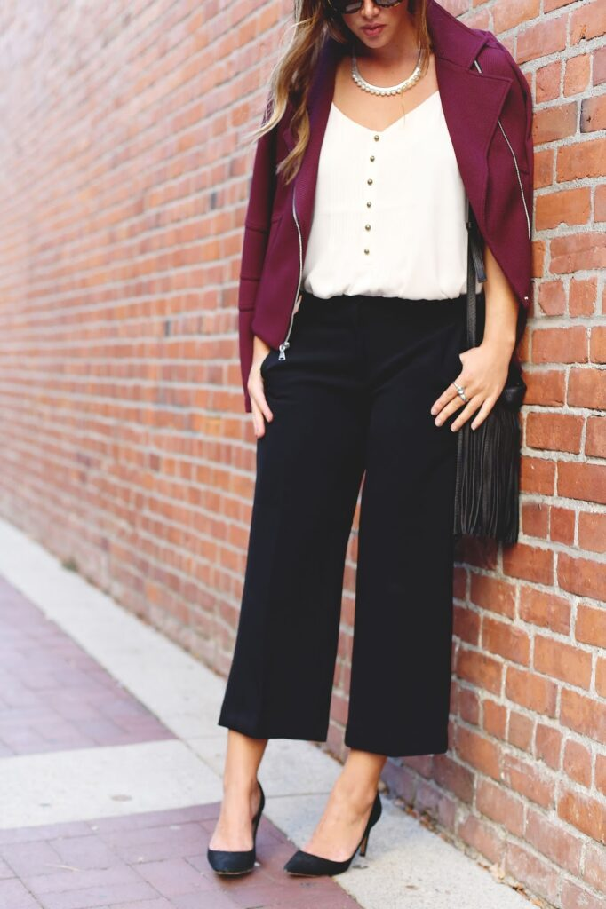 to vogue or bust, vancouver style blog, vancouver fashion blog, vancouver lifestyle blog, vancouver travel blog, vancouver health blog, vancouver fitness blog, canadian fashion blog, canadian style blog, canadian lifestyle blog, canadian travel blog, canadian health blog, canadian fitness blog, alexandra grant, how to wear culottes, culottes outfit ideas, culottes styling tips, how to wear a moto jacket, express jacket, express culottes, express camisole, express canada, express studio line, how to wear purple, how to wear burgundy, office to drinks style, what to wear to the office, stylish office outfit ideas, best fashion blogs, best lifestyle blogs, best style blogs, best travel blogs, best fitness blogs, best health blogs, top fashion blogs, top lifestyle blogs, top style blogs, top travel blogs, top fitness blogs, top health blogs, popular fashion blogs, popular style blogs, popular travel blogs