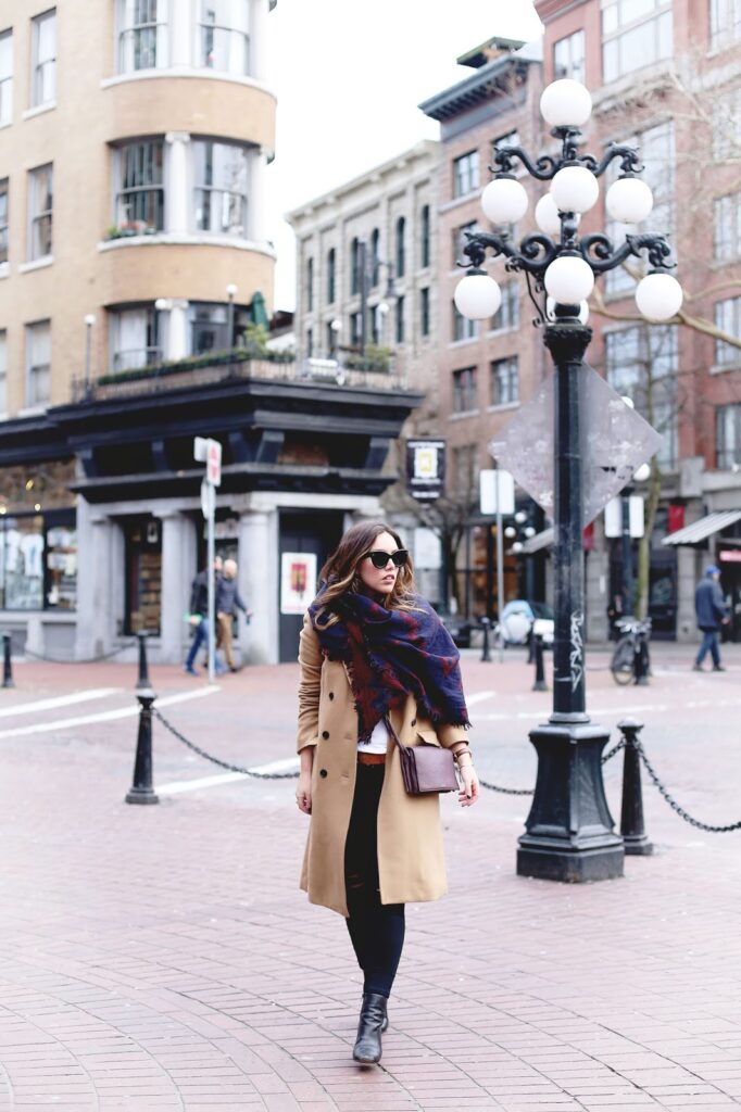 to vogue or bust, vancouver style blog, vancouver fashion blog, vancouver lifestyle blog, vancouver travel blog, vancouver fitness blog, vancouver health blog, canadian fashion blog, canadian style blog, canadian lifestyle blog, canadian travel blog, canadian fitness blog, canadian health blog, popular fashion blog, popular style blog, popular travel blog, best fashion blogs, best style blogs, best travel blogs, best fitness blogs, best health blogs, best lifestyle blogs, top travel blogs, top style blogs, top fashion blogs, top fitness blogs, top health blogs, alexandra grant, aritzia blanket scarf, how to wear an aritzia blanket scarf, aritzia camel coat, how to wear aritzia scarves, talula camel wool coat, celine caty sunglasses, mavi skinny jeans, zara ankle boots, auxiliary cross-body bag, aritzia bags, minimal winter style, how to wear a blanket scarf, blanket scarf tutorial