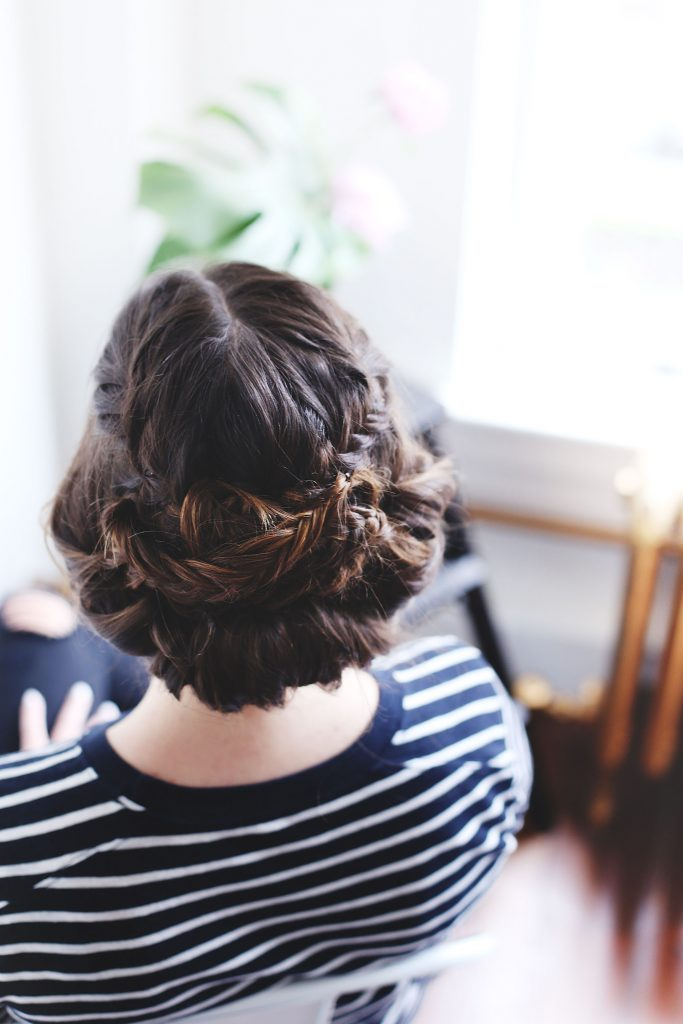 Braided updo hair tutorial