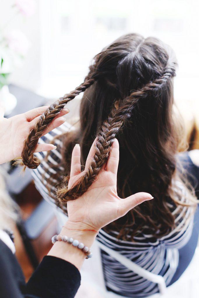 Boho braided half up tutorial