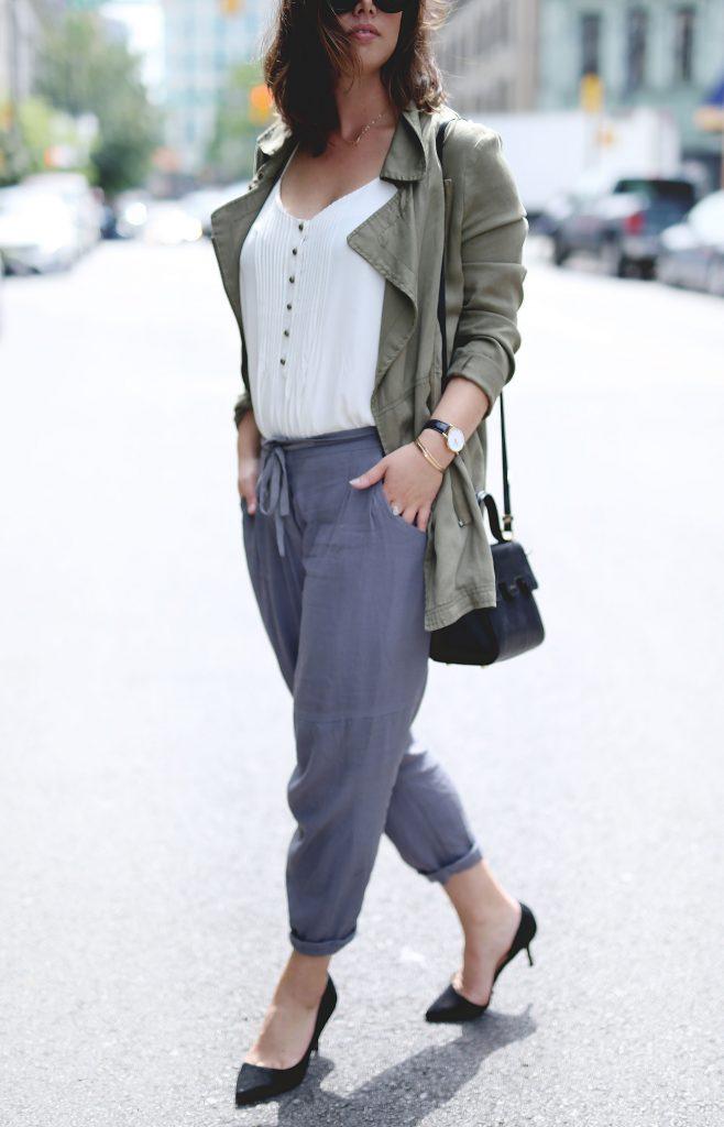 How to wear silk pants