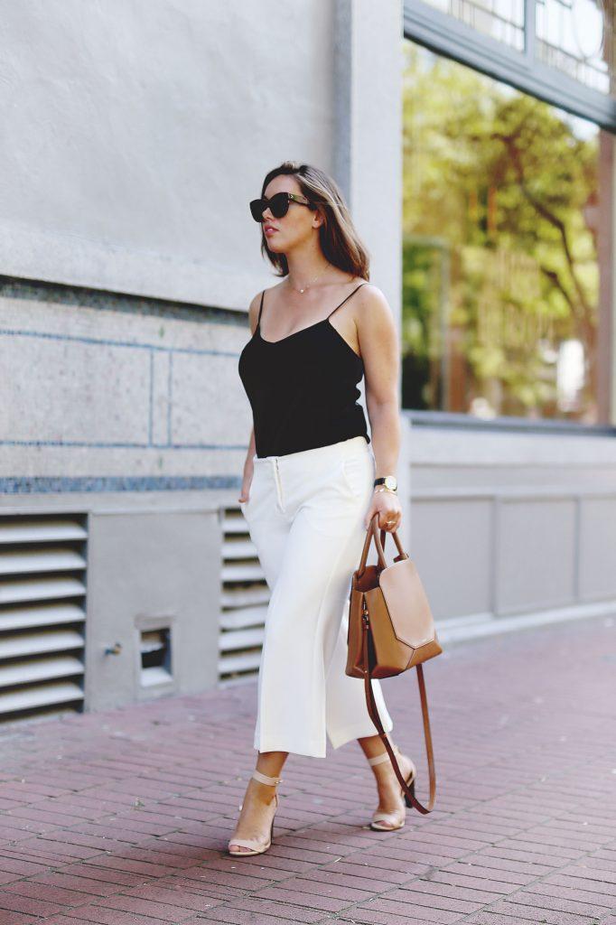 Culottes outfit idea