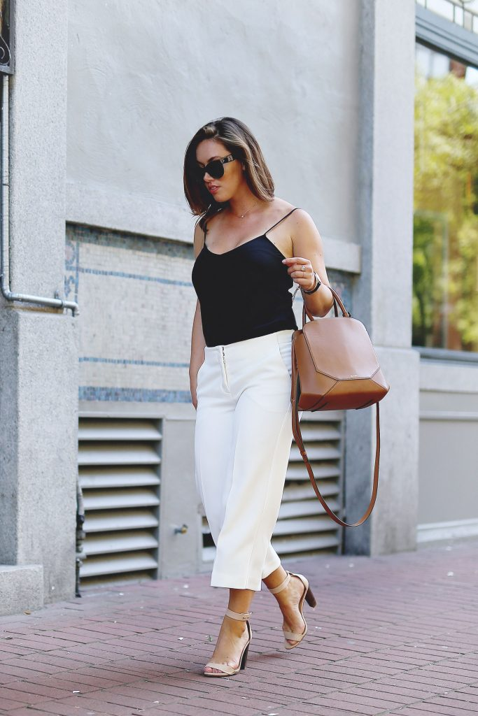 The best ways to wear white culottes