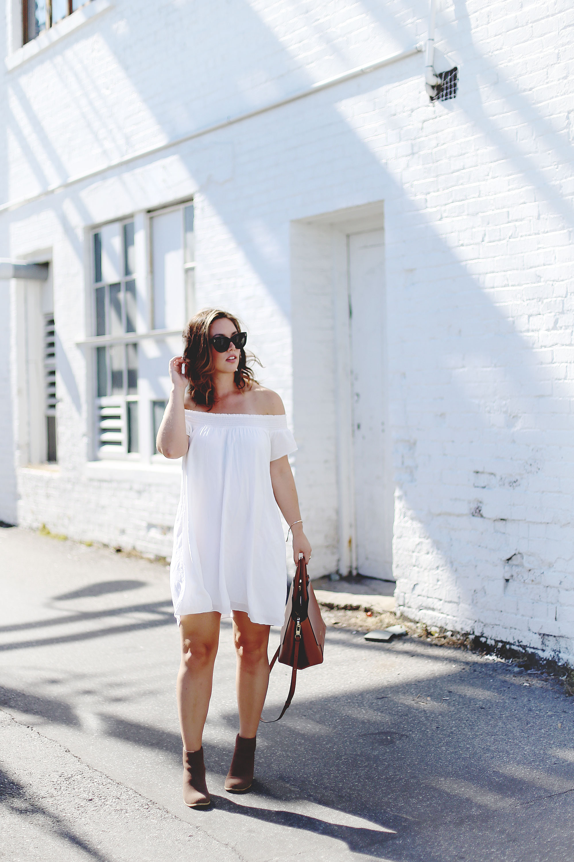off shoulder dress styling tips