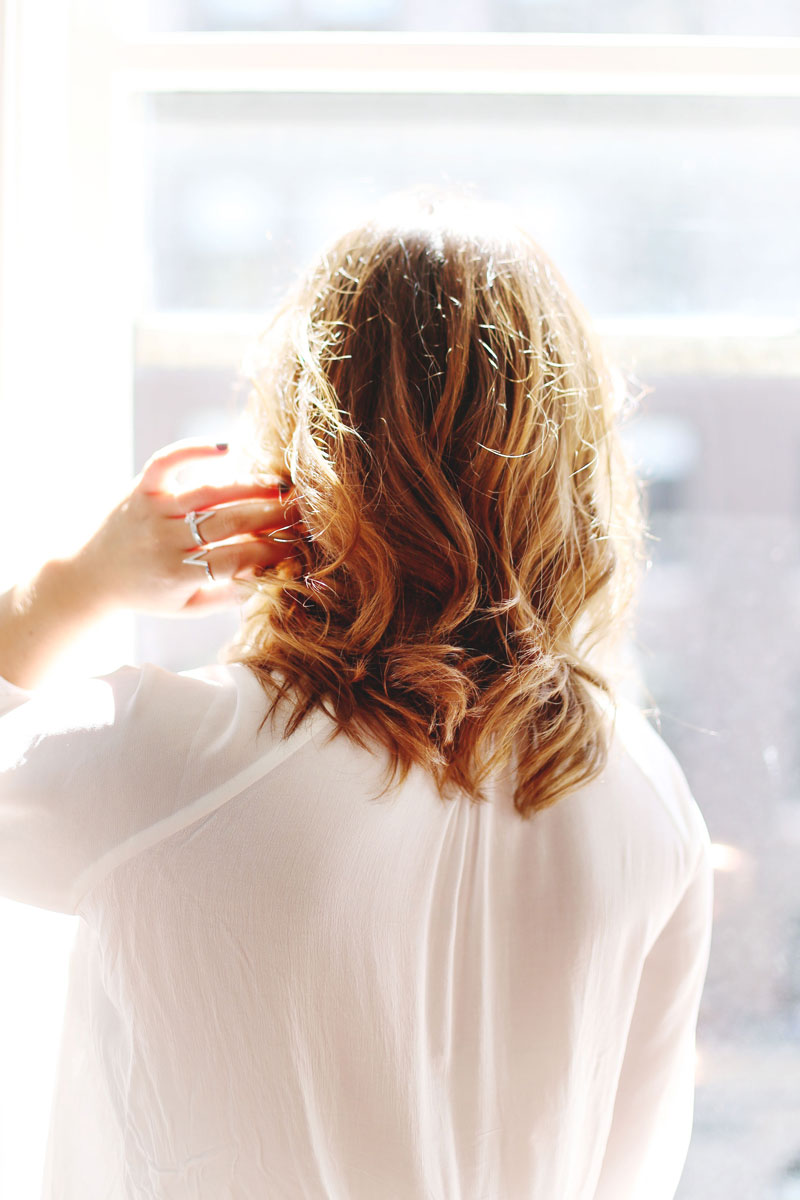 Sun kissed balayage for brunette hair