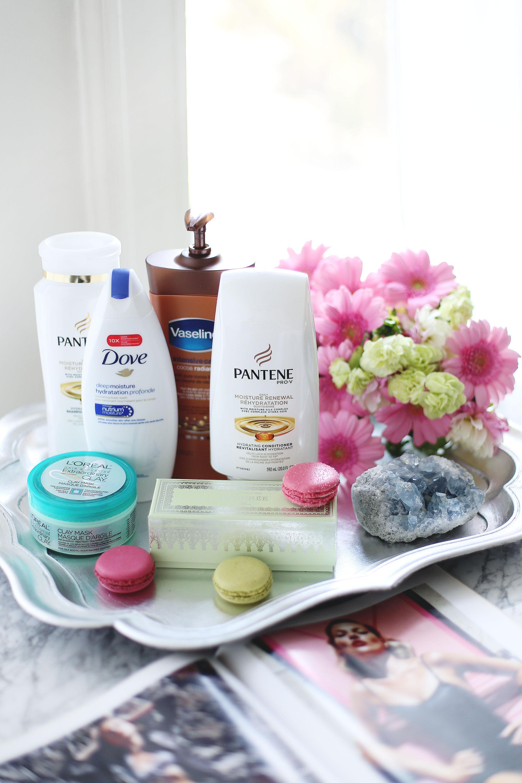 Best drugstore beauty products, best drugstore shampoo, best drugstore conditioner, best drugstore face mask, best drugstore body lotion, best drugstore shower gel, shoppers drug mart