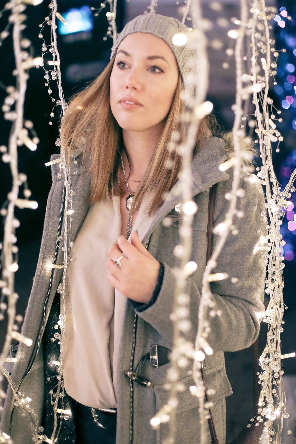Statement necklace styling tips at Enchant Vancouver Christmas market styled by To Vogue or Bust