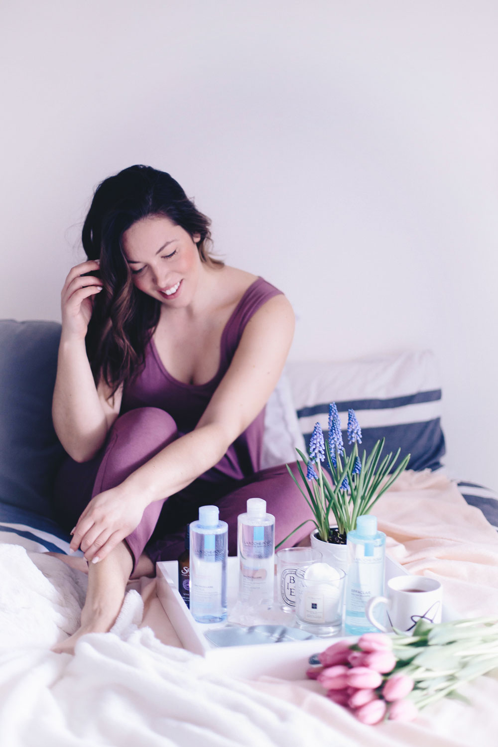 Tips for a better beauty sleep, how to have a good night sleep, best sleeping masks, la roche posay micellar water, night skin care routine by To Vogue or Bust