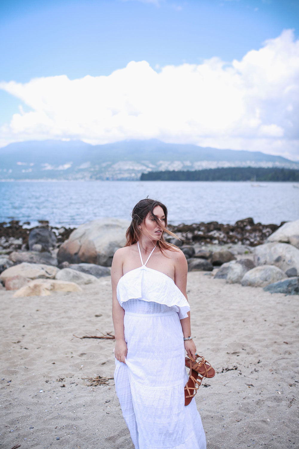 Maxi dress outfit idea styled by To Vogue or Bust in Michael Kors maxi dress