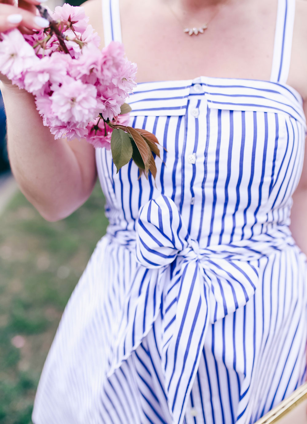How to wear a striped dress for summer styled by To Vogue or Bust