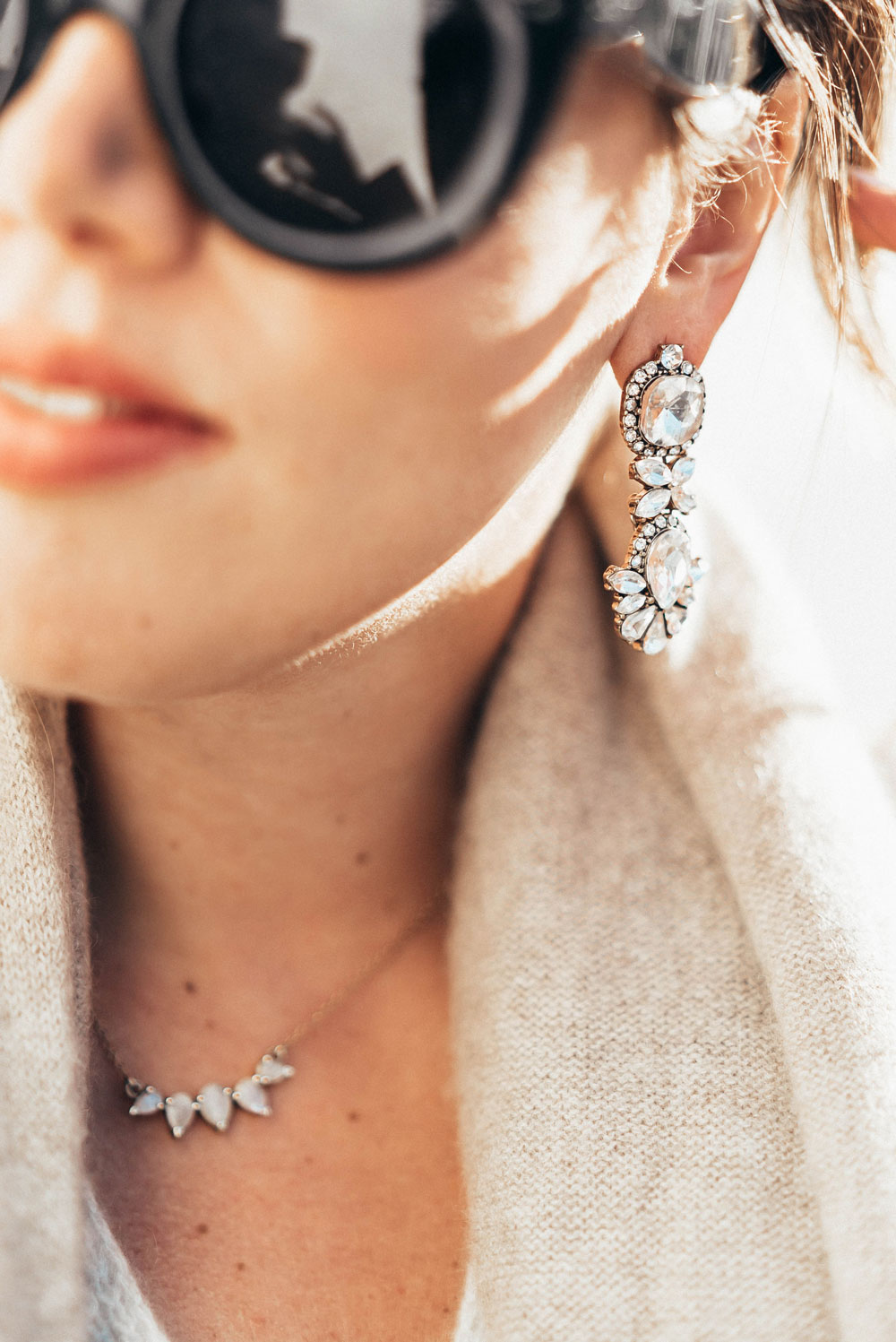 How to wear crystal earrings by To Vogue or Bust