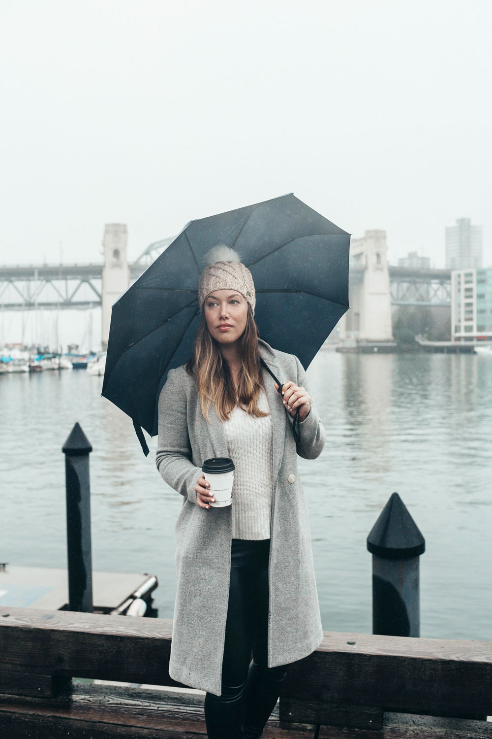 Best outfits for the rain in aritzia coat by To Vogue or Bust