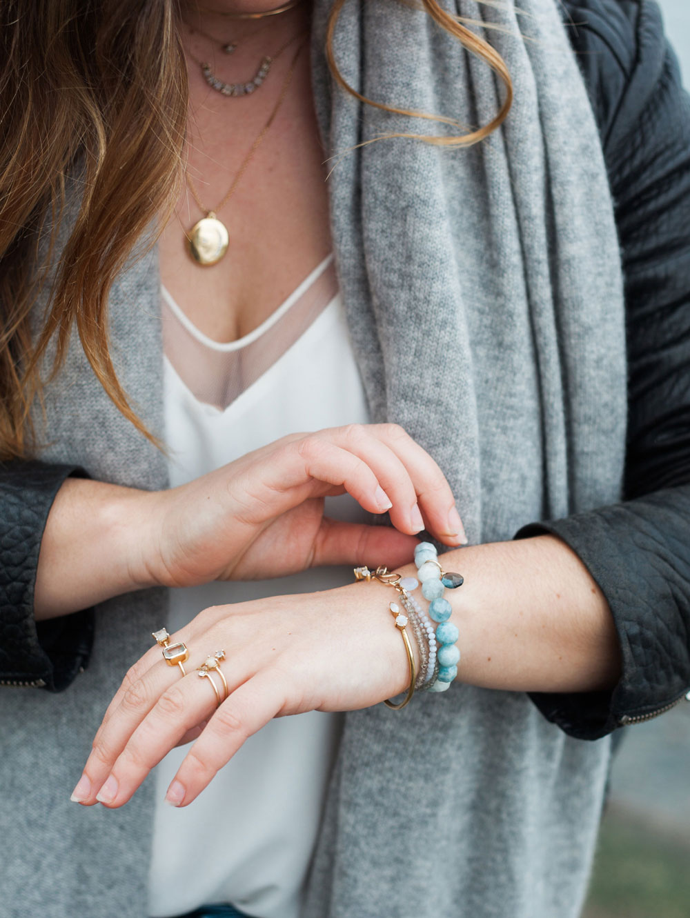 how to stack jewelry in leah alexandra jewelry by To Vogue or Bust