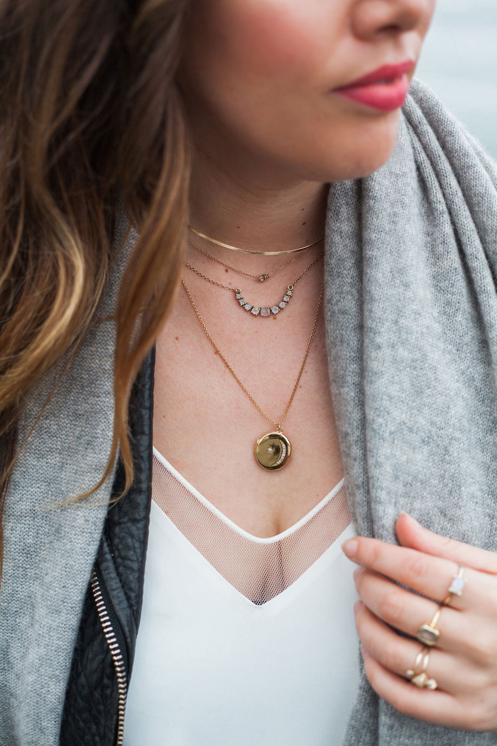 how to layer jewelry by To Vogue or Bust