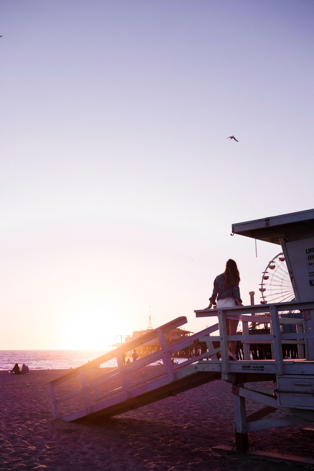 santa monica lifeguard stands by To Vogue or Bust