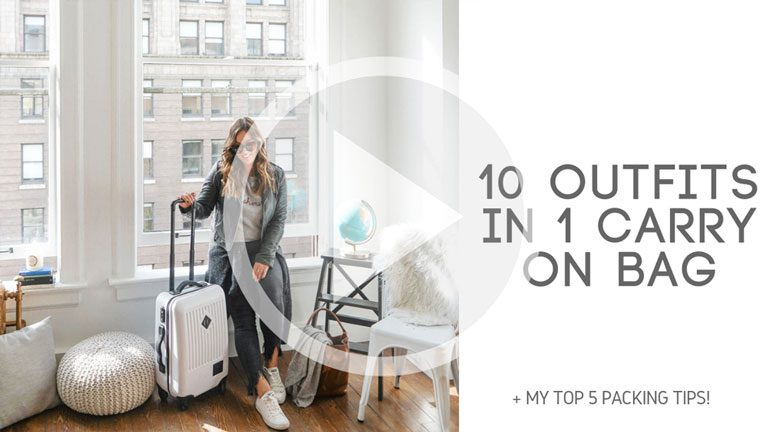 10 Outfits in 1 Carry On Bag