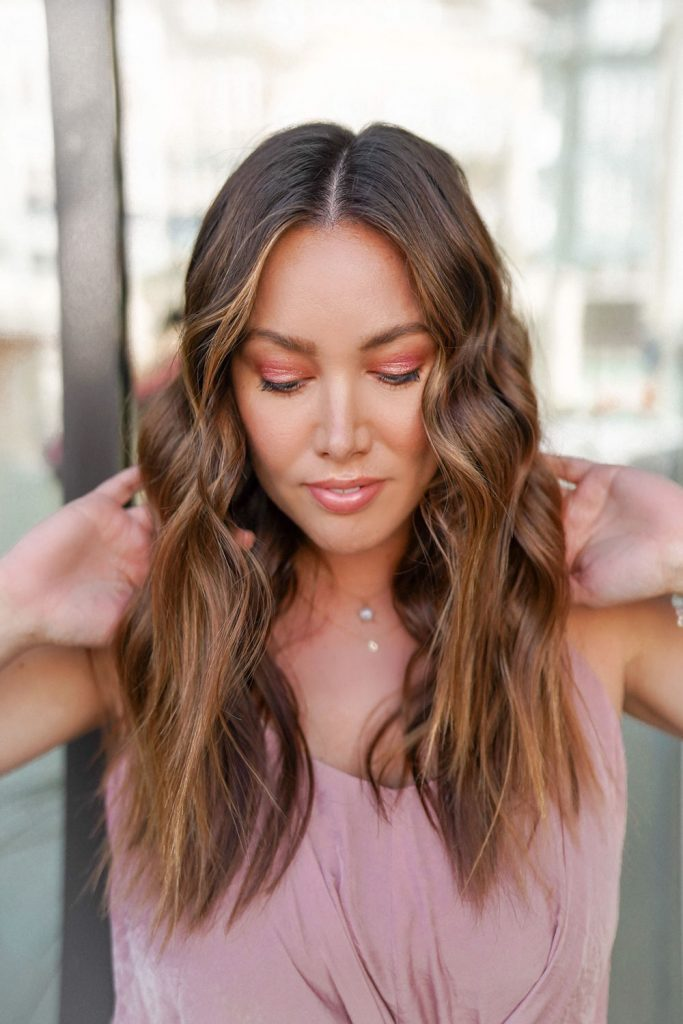 Rose gold beauty; a simple yet beautiful spring and summer makeup look.