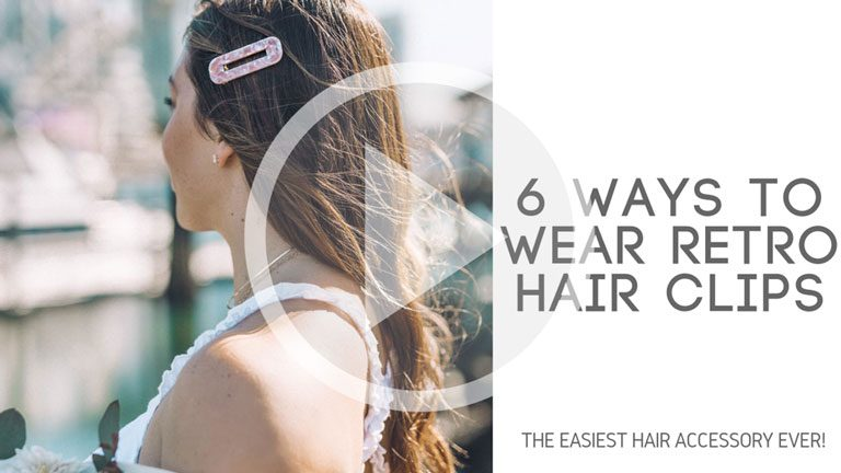 6 Ways to Wear Retro Hair Clips