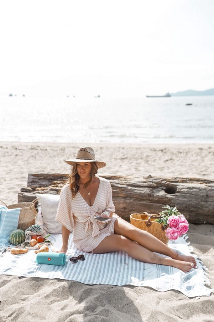 Essentials for the ultimate beach picnic; a must for Summer 2019.
