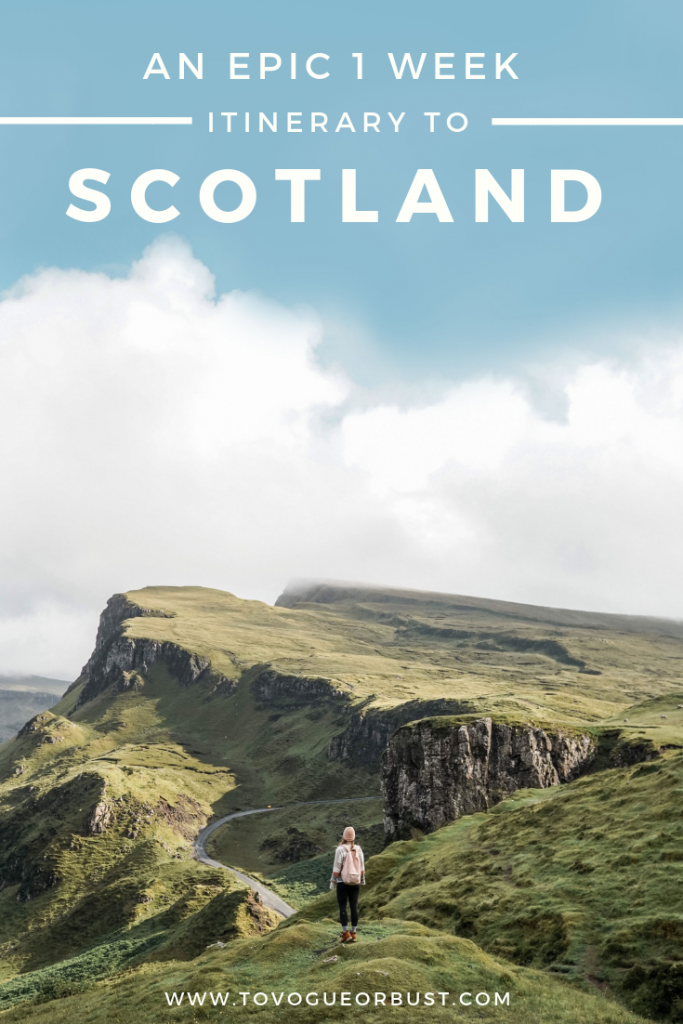 1 week travel itinerary to Scotland