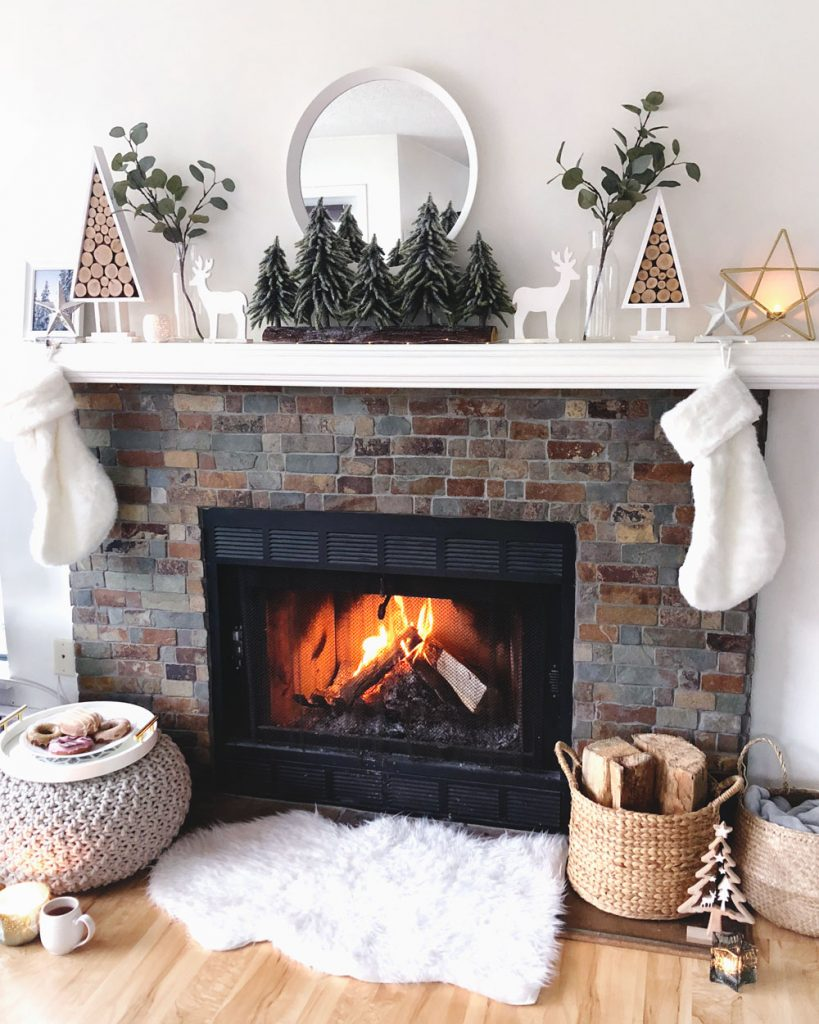 Fire mantle styling tips for the holidays
