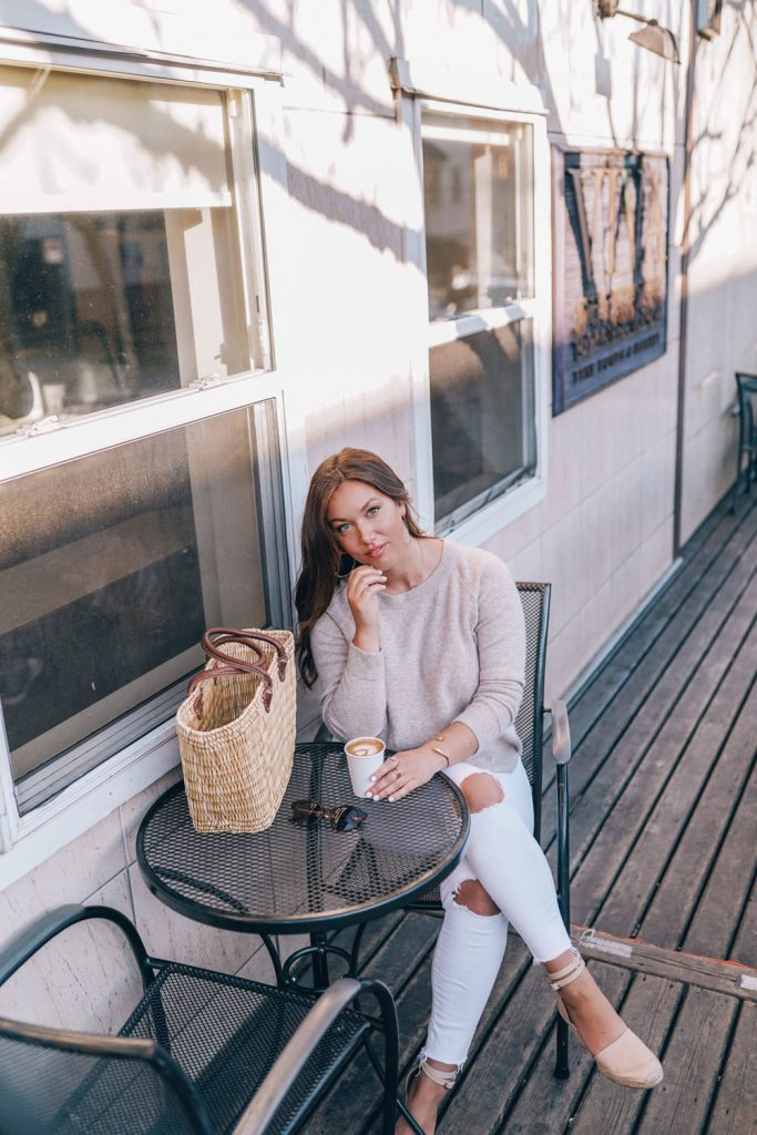 White denim outfit idea